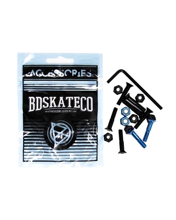 """BD Hardware 1""""  Black+ Metal  blue"""