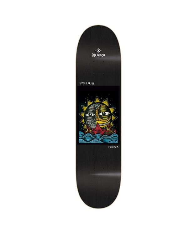 BDSKATECO skate deck Stole Army II. Libertad Black